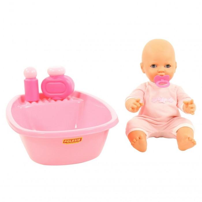 Купить Куклы и одежда для кукол, Полесье Пупс Забавный с соской и набором для купания 35 см