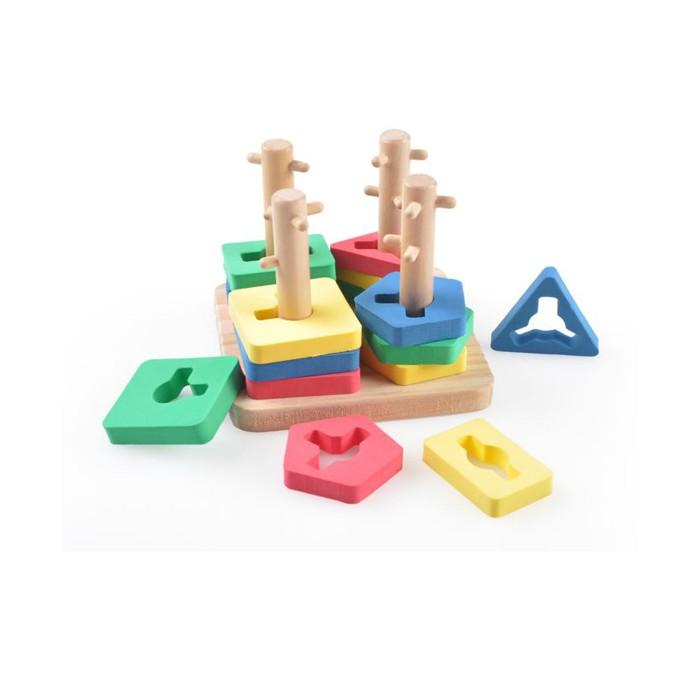 Деревянные игрушки Мир деревянных игрушек (МДИ) Логическай квадрат малый игрушка мир деревянных игрушек лабиринт слон д345
