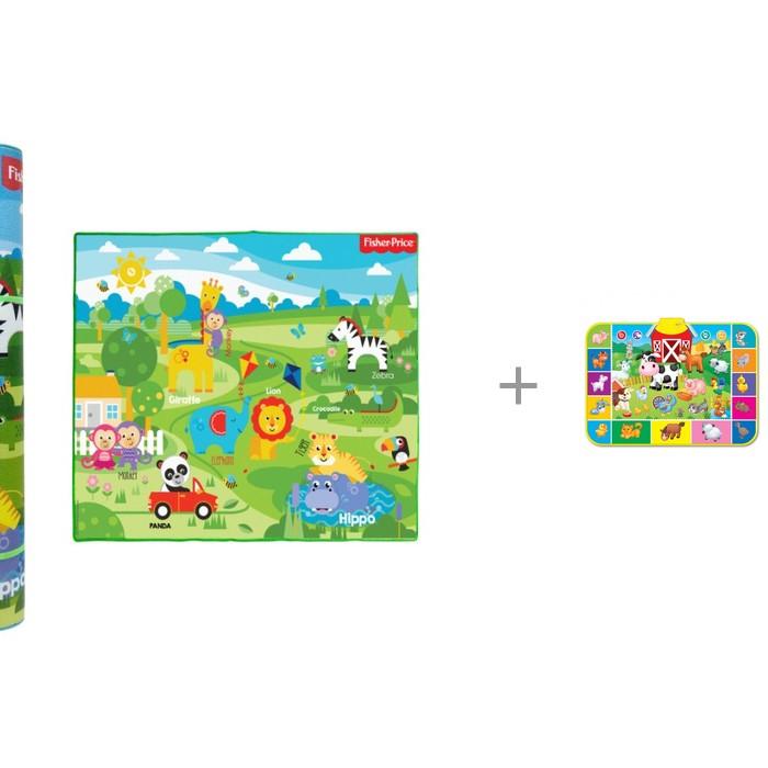 Купить Игровые коврики, Игровой коврик Fisher Price для малышей средний в тубусе + азбукварик На ферме (Музыкальный)