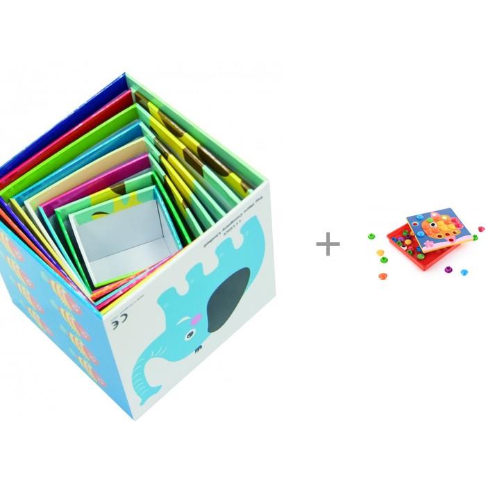 Развивающая игрушка Little Нero Складные кубики + Art-Puzzle 12 карточек 46 фишек
