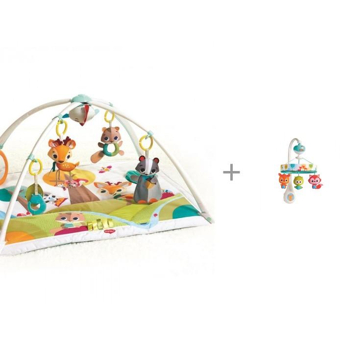 Купить Развивающие коврики, Развивающий коврик Tiny Love Сказочный лес + мобиль Маленькие друзья (звук, движение)
