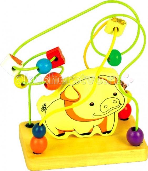 Деревянная игрушка Мир деревянных игрушек (МДИ) Лабиринт Свинья