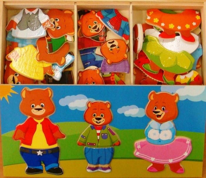 Купить Деревянные игрушки, Деревянная игрушка Мир деревянных игрушек Три медведя Д164