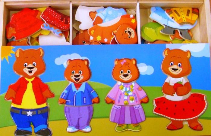 Деревянная игрушка Мир деревянных игрушек Четыре медведя