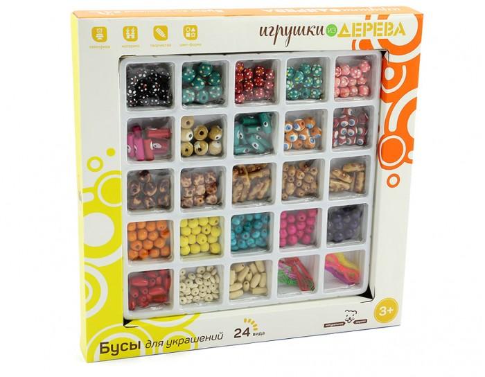 Наборы для творчества Мир деревянных игрушек (МДИ) Набор Бусы 2 игрушка мир деревянных игрушек бусы ассорти 48шт д416