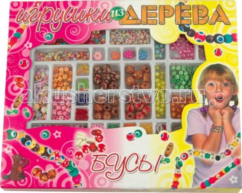 Наборы для творчества Мир деревянных игрушек (МДИ) Набор Бусы 4 игрушка мир деревянных игрушек бусы ассорти 48шт д416