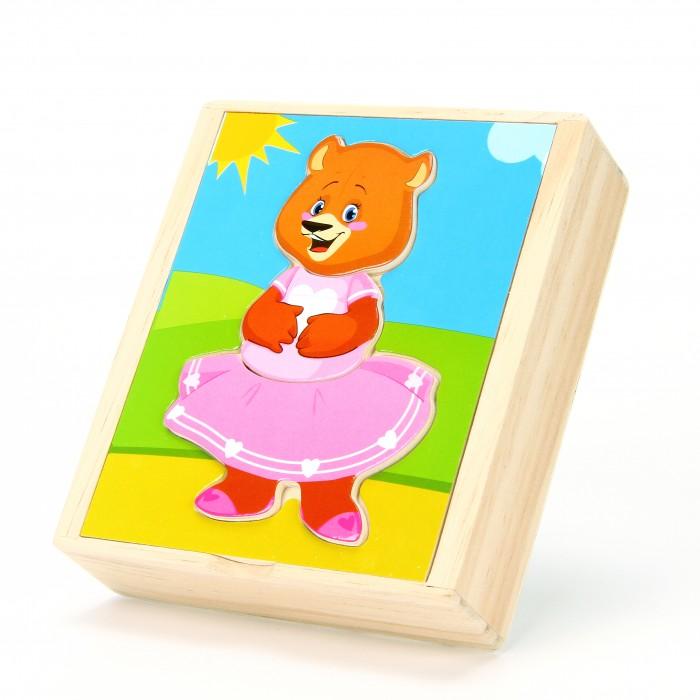 Картинка для Деревянная игрушка Мир деревянных игрушек Медвеженок Катя