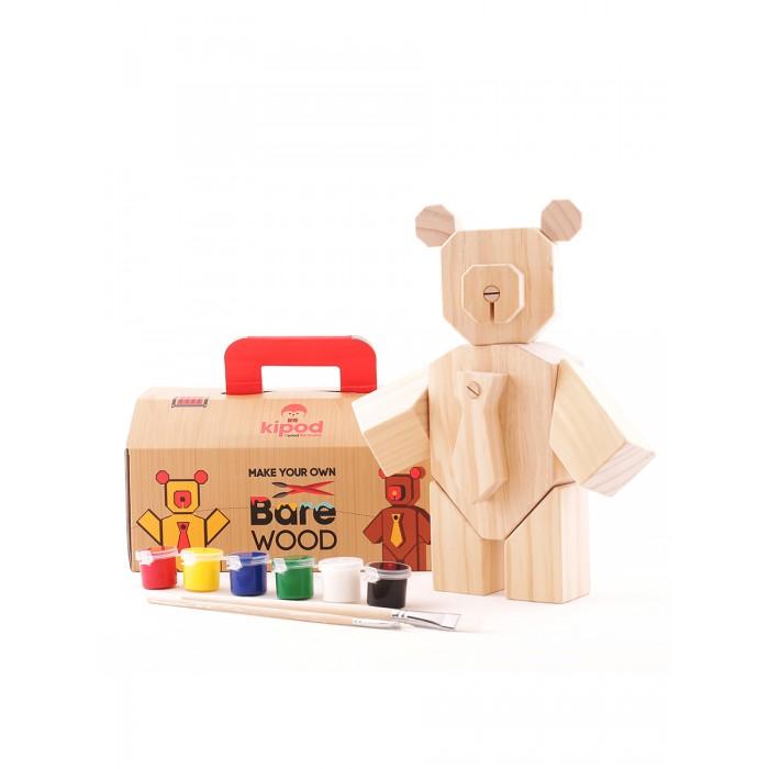Kipod Toys Деревянный набор Собери медведя с красками фото