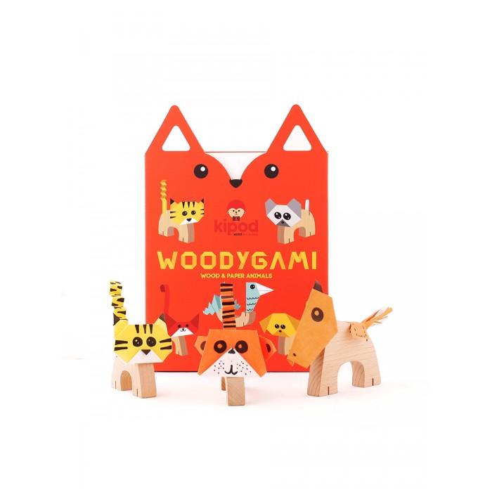 Деревянная игрушка Kipod Toys Набор-оригами Животные фото