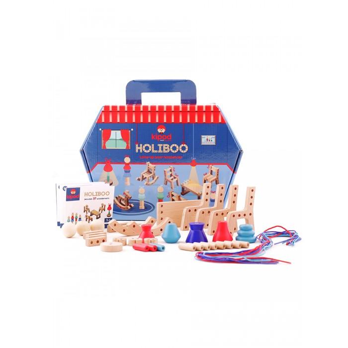 Деревянная игрушка Kipod Toys Набор со шнуровкой Мой дом