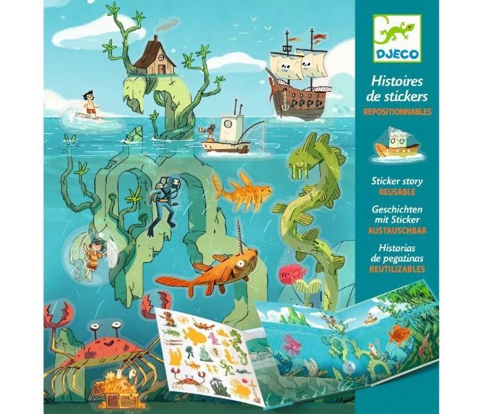 Купить Детские наклейки, Djeco Набор с наклейками Путешествие по морю