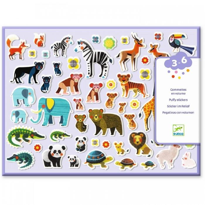 Купить Детские наклейки, Djeco Набор объемных наклеек Мамы и детки