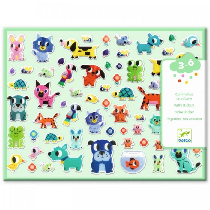 Купить Детские наклейки, Djeco Набор объемных наклеек Мои маленькие друзья