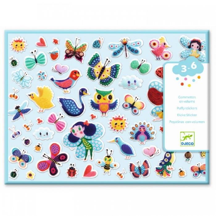 Купить Детские наклейки, Djeco Набор объемных наклеек Маленькие крылышки