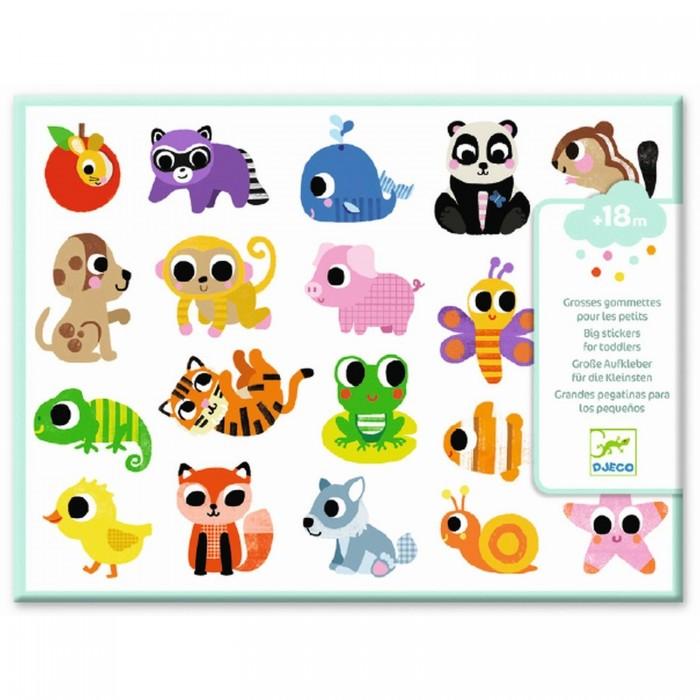 Купить Детские наклейки, Djeco Набор объемных наклеек Детёныши