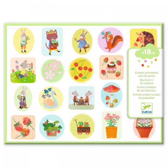 Купить Детские наклейки, Djeco Набор объемных наклеек Сад