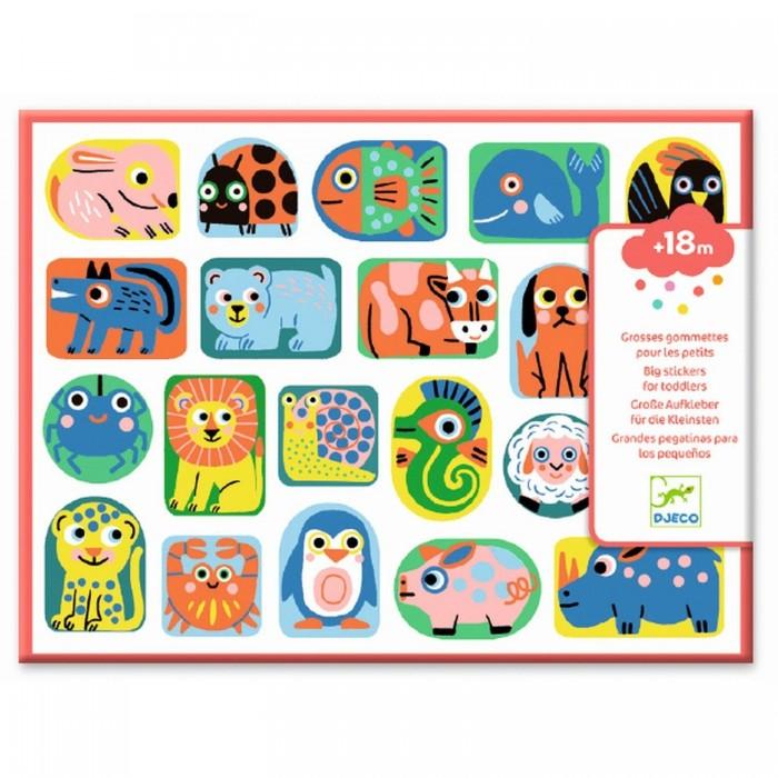 Купить Детские наклейки, Djeco Набор объемных наклеек Форма и размер