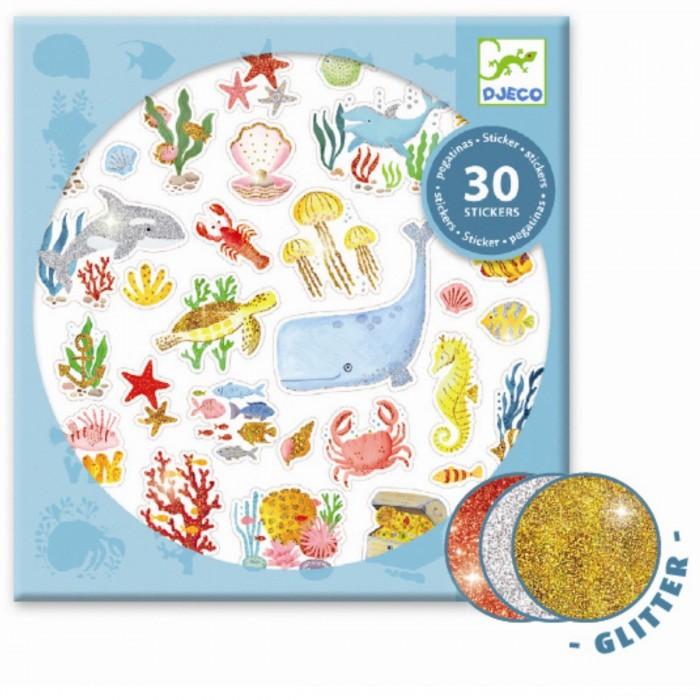 Купить Детские наклейки, Djeco Набор наклеек Под водой