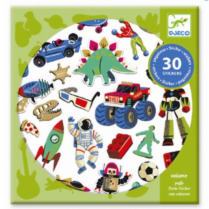 Купить Детские наклейки, Djeco Набор наклеек Ретро игрушки