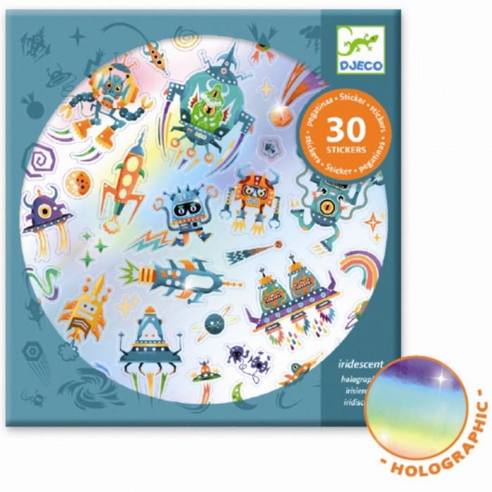 Детские наклейки Djeco Набор наклеек Другая галактика детские наклейки djeco набор объемных наклеек мамы и детки