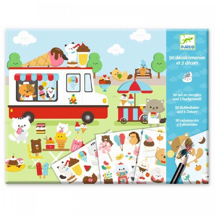 Картинка для Детские наклейки Djeco Набор для творчества Страна сладостей