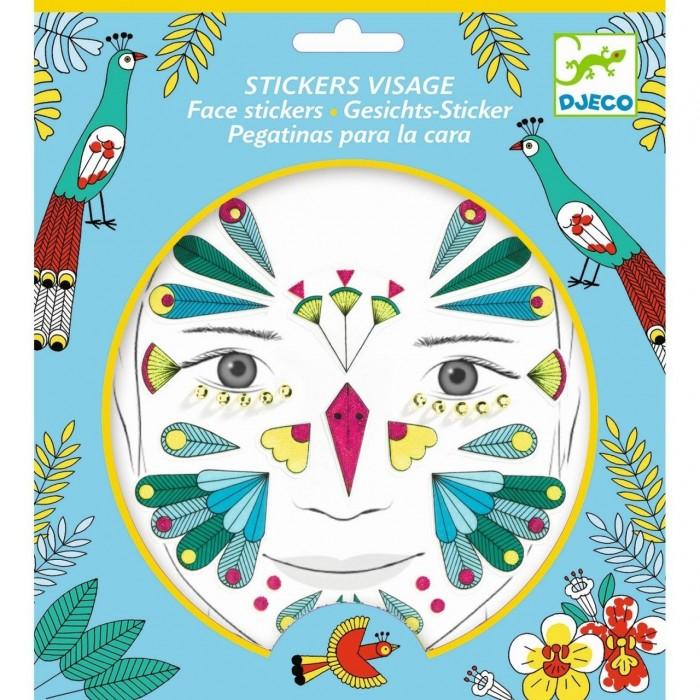 Фото - Товары для праздника Djeco Наклейки для лица Птичка наклейки для ткани и кожи unicorn