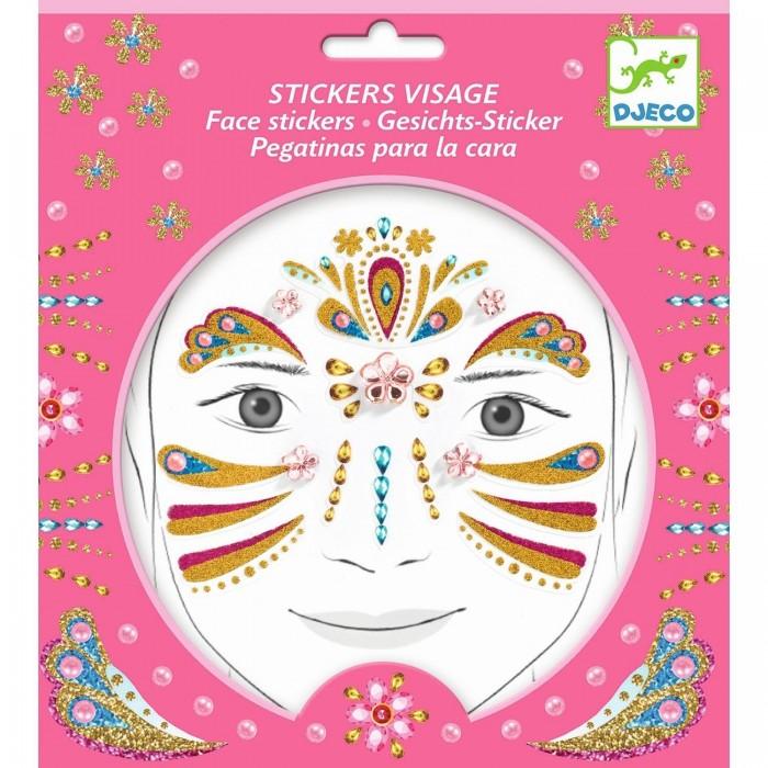Фото - Товары для праздника Djeco Наклейки для лица Принцесса наклейки для ткани и кожи unicorn