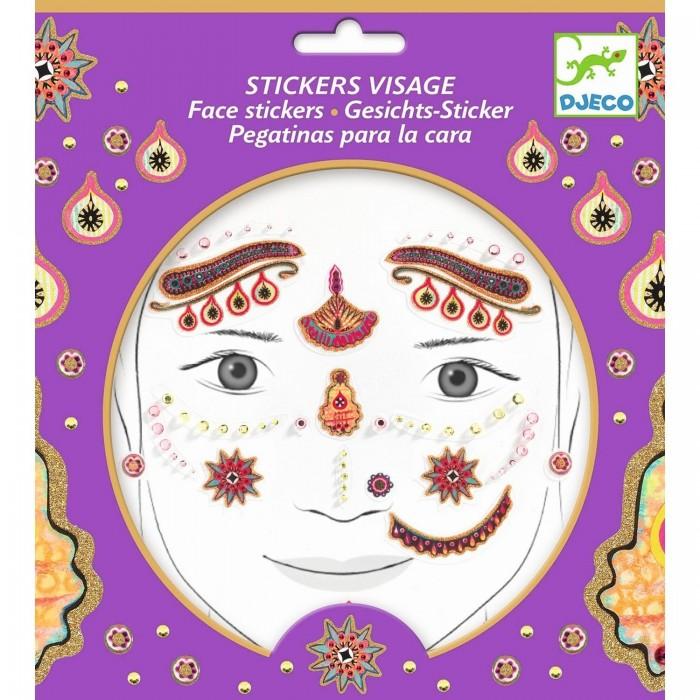 Фото - Товары для праздника Djeco Наклейки для лица Принцесса Индии наклейки для ткани и кожи unicorn