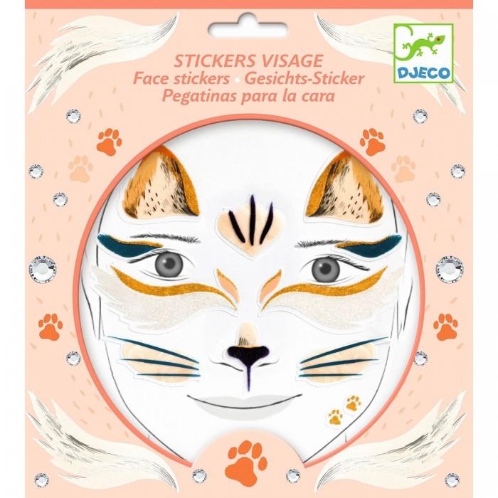 Фото - Товары для праздника Djeco Наклейки для лица Кошка наклейки для ткани и кожи unicorn