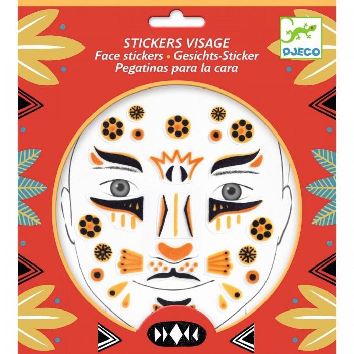 Фото - Товары для праздника Djeco Наклейки для лица Леопард наклейки для ткани и кожи unicorn