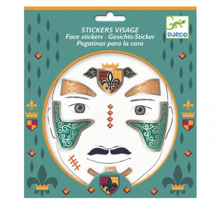 Фото - Товары для праздника Djeco Наклейки для лица Рыцарь наклейки для ткани и кожи unicorn
