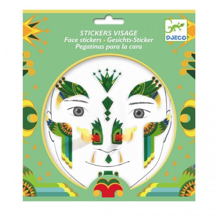 Фото - Товары для праздника Djeco Наклейки для лица Дракон наклейки для ткани и кожи unicorn