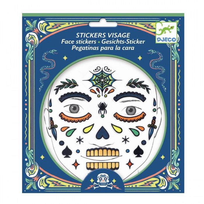 Фото - Товары для праздника Djeco Наклейки для лица Скелет наклейки для ткани и кожи unicorn