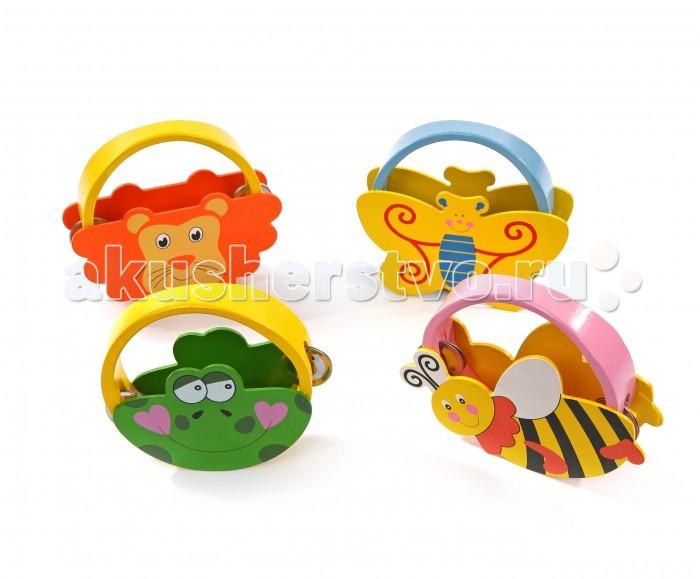 Музыкальные игрушки Мир деревянных игрушек (МДИ) Бубен фигурный скрипка бубен и утюг