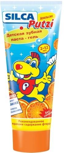 Гигиена полости рта Silca Putzi Зубная паста Апельсин от 2 до 12 лет 75 мл