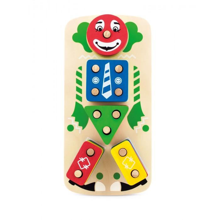 Деревянная игрушка Мир деревянных игрушек Клоун Пирамидка