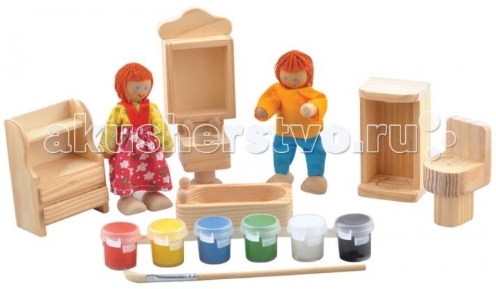 Мир деревянных игрушек (МДИ) Набор для творчества Ванная комната раковина в ванную в петрозаводске