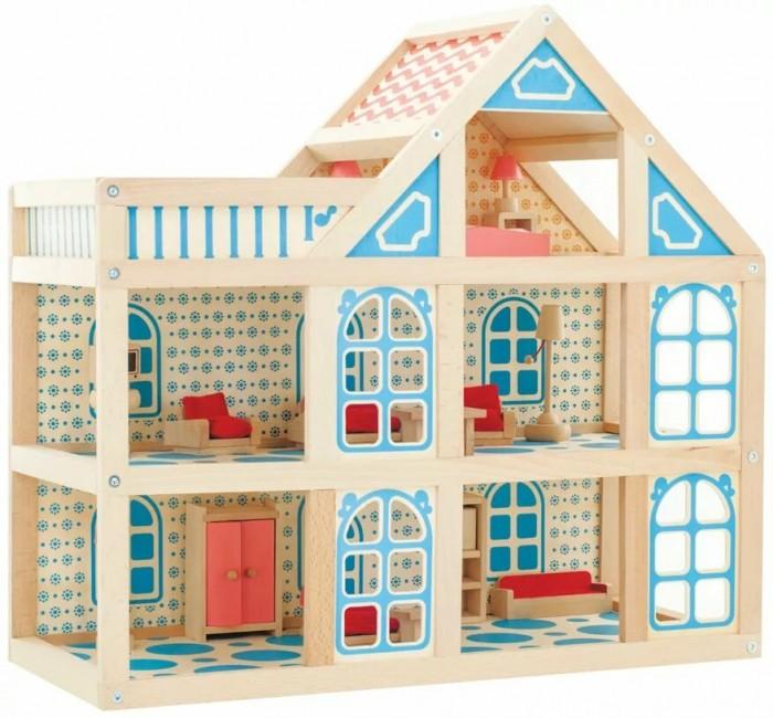 Кукольные домики и мебель Мир деревянных игрушек (МДИ) Кукольный домик 3 этажа, Кукольные домики и мебель - артикул:73236