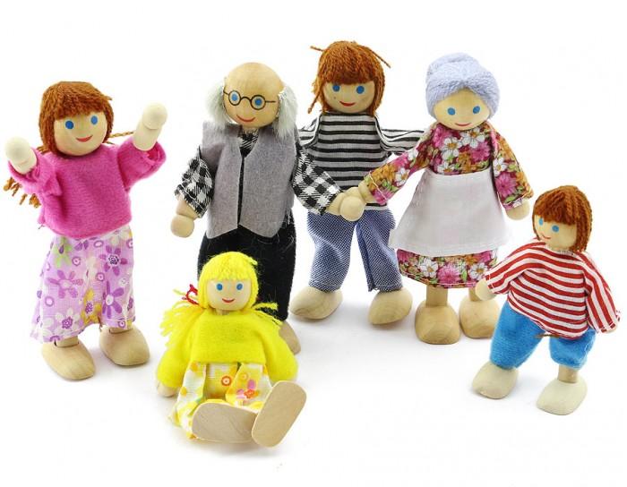 Куклы и одежда для кукол Мир деревянных игрушек (МДИ) Набор кукол 6 штук куклы и одежда для кукол lalaloopsy mini игровой набор style n swap princesse