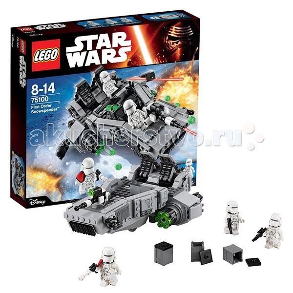 Конструктор Lego Star Wars 75100 Лего Звездные Войны Снежный спидер Первого ОрденаStar Wars 75100 Лего Звездные Войны Снежный спидер Первого ОрденаКонструктор Lego Star Wars Звездные Войны Снежный спидер Первого Ордена. Когда-то в сражении на ледяной планете Хот спецвоины Галактической империи в условиях экстремально низких температур показали свое высококлассное мастерство. И по прошествии многих лет Первый Орден продолжает войну за власть имперских законов. Снежные штурмовики снова преисполнены решимости вступить в схватку с повстанцами, базы которых скрываются в холодных мирах.  Сверхмощный корабль быстрого реагирования из Lego Star Wars 75100 Снежный спидер Первого Ордена оснащен прозрачными колесами, создающими эффект парения над землей. Ходовая часть имеет два эргономичных кресла для пехотинцев. А кабина пилота – контрольную панель и скорострельное оружие. Еще две шестизарядные пушки расположены возле двигателей. В боевую готовность они запускаются с помощью вращающихся рычагов. Боеприпасы для пушки хранятся в спецконтейнерах.  В набор входит 3 минифигурки: 2 снежных пехотинца и офицер пехоты Первого Порядка.  Конструктор состоит из 444 делали.<br>