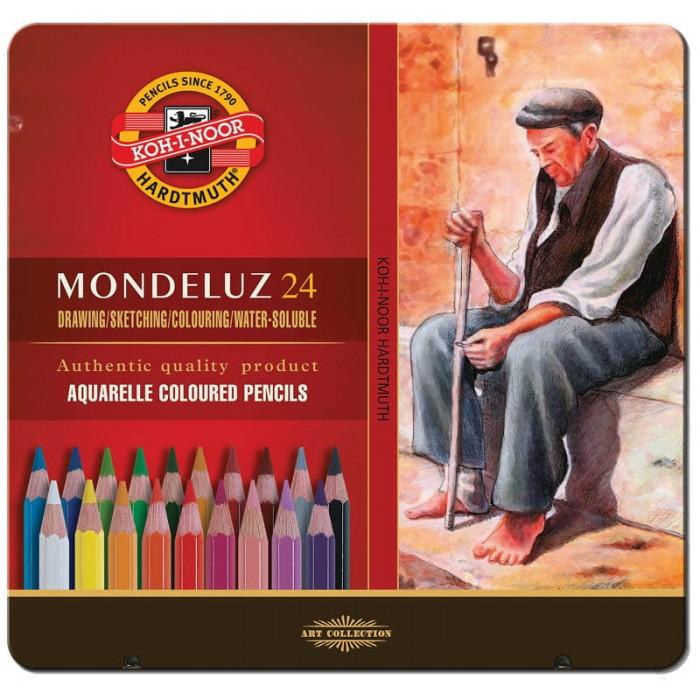 Карандаши, восковые мелки, пастель Koh-i-Noor Карандаши акварельные Mondeluz 24 цвета