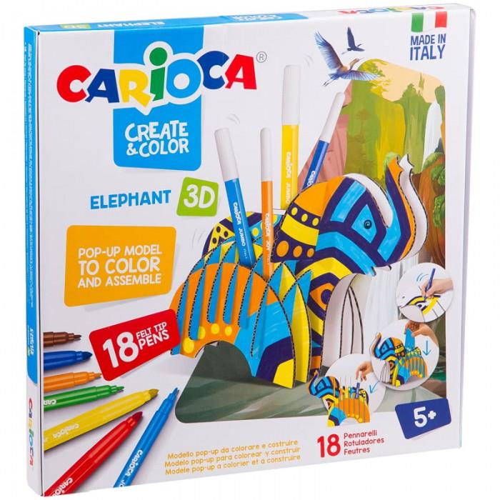 Carioca Набор для рисования Elephant 18 фломастеров и сборная подставка от Carioca