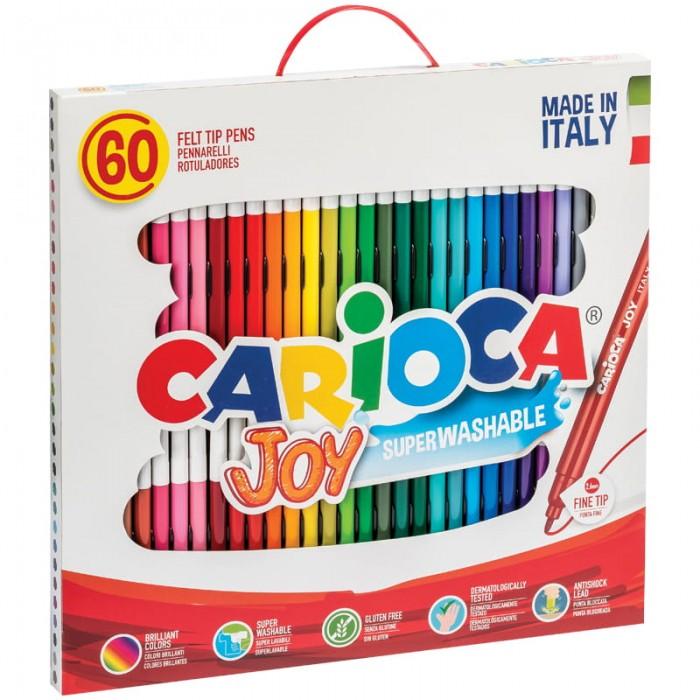 Фломастеры Carioca смываемые Joy 60 цветов
