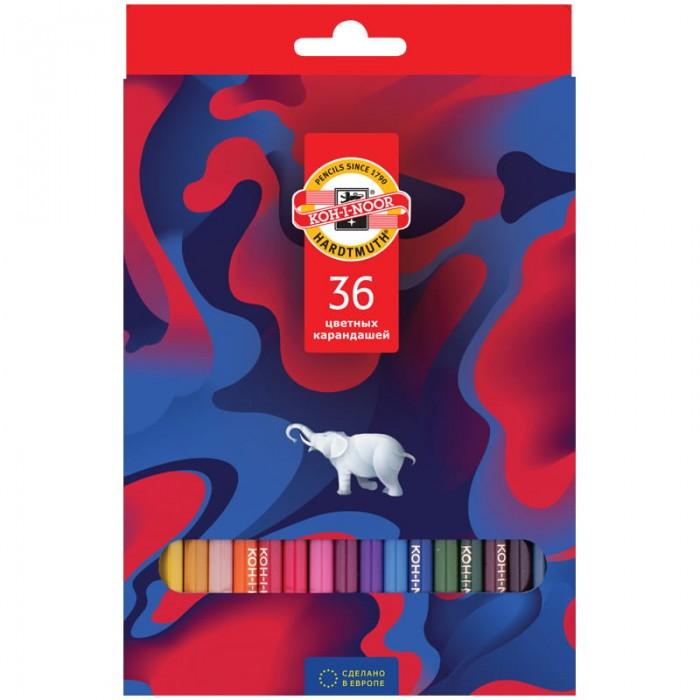 Карандаши, восковые мелки, пастель Koh-i-Noor Карандаши цветные Элефант 36 цветов карандаши элефант 24 цвета