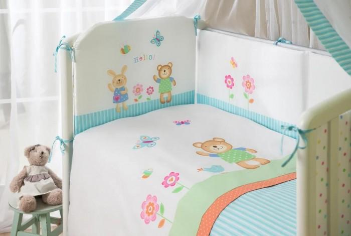 Комплект в кроватку Perina Hello из сатина (7 предметов)