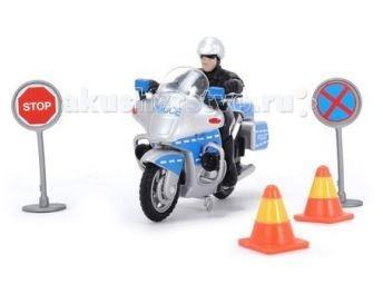Машины Dickie Полицейский мотоцикл игровые наборы dickie полицейский набор свободный ход 10 см