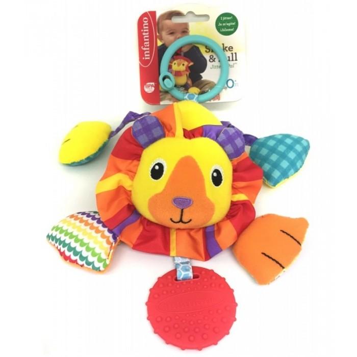 Подвесная игрушка Infantino Дрожащий львенок с прорезывателем