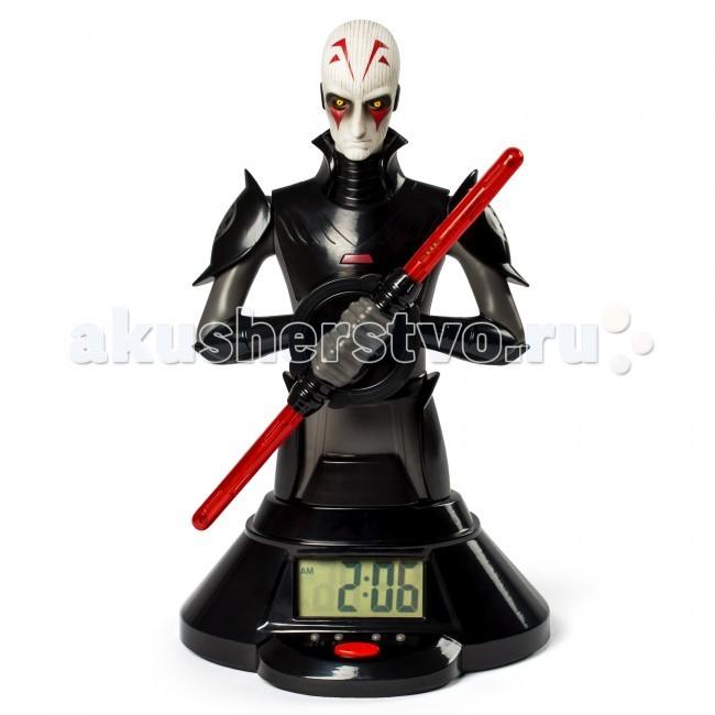 Часы Star Wars Spin Master Звездные Войны со световым мечомSpin Master Звездные Войны со световым мечомЧасы Spin Master Star Wars Звездные Войны со световым мечом - фигура представляет собой не просто декоративную игрушку, но и функциональный аксессуар - настольные часы.  Инквизитор - один из злодеев саги Звездные войны, охотник на джедаев. Фигура, максимально детально изображающая героя, выполнена из черного, белого и красного пластика высокого качества.   В руках Инквизитор держит уникальное оружие - светящийся красный меч, который выполняет также функцию часовой стрелки и проецирует время, вращаясь. Для большего удобства время показано и на электронном дисплее, размещенном на красивой и устойчивой подставке фигуры. Кроме того, часы работают и в режиме будильника.   Работают часы от батареек, которые прилагаются в комплекте.  Высота фигурки 25 сантиметров. При вращении время проецируется, меч светится.<br>