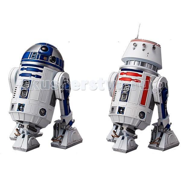 Star Wars Bandai Звездные Войны Сборная модель R2-D2 и R5-D4 1:12Bandai Звездные Войны Сборная модель R2-D2 и R5-D4 1:12Star Wars Bandai Звездные Войны Сборная модель R2-D2 и R5-D4 1:12 - этого набора деталей на литниках хватит сразу на две аутентичные фигурки: астромеханического дроида R2-D2 и его коллеги R5-D4.   Обе фигурки могут менять позу (настолько, насколько это вообще возможно для ремонтного дроида), а из корпуса R2-D2 можно даже выдвинуть его рабочие инструменты.   В комплект входят подставки для обоих фигурок.  R2-D2 и R5-D4 мусорщики-джавы пытались продать Люку Скайуокеру и его дяде на Татуине. R2-D2 в итоге прошел через всю историю Звездных войн, а R5-D4 почти сразу же вышел из строя. Но мы все равно его не забываем!  Детали для сборки изготовлены из качественного пластика и имеют отличную детализацию, вся продукция фирмы Bandai лицензирована фирмами правообладателями, что гарантирует её высокое качество и аутентичность.<br>