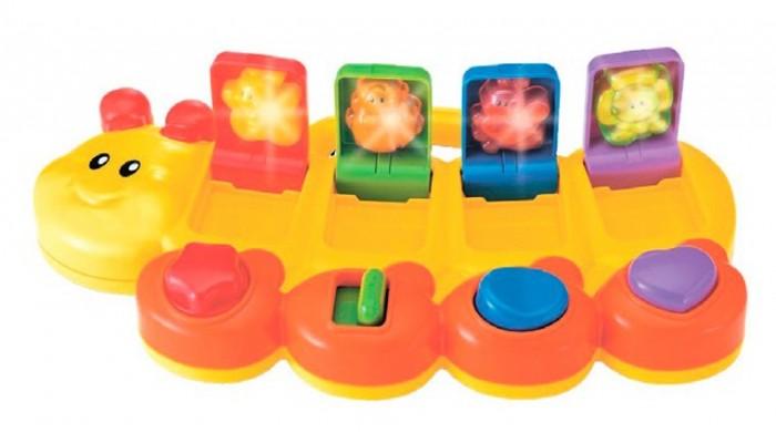 Развивающая игрушка B kids Смешная гусеница со светом и звуком фото